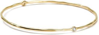 Ippolita 18K Gold 2 Diamond Bangle