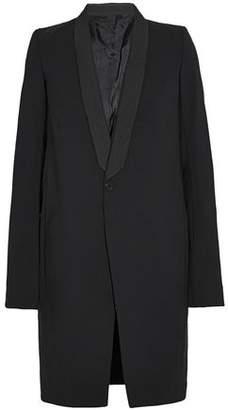 Rick Owens Draped Wool-Blend Gabardine Coat