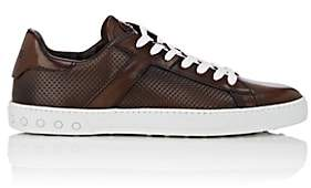 Tod's MEN'S LEATHER SNEAKERS-BROWN SIZE 9 M