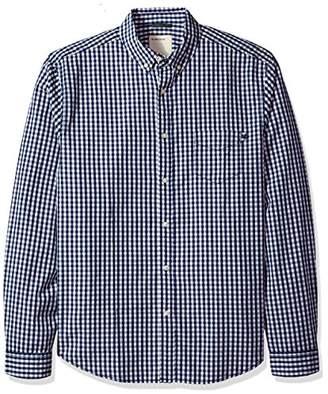 Life After Denim Men's Long Sleeve Slim Fit Das 2.0 Poplin Check Shirt