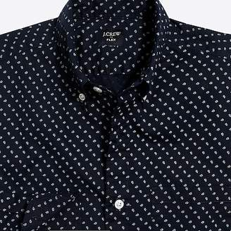 J.Crew Mercantile Flex washed shirt in micro-paisley print