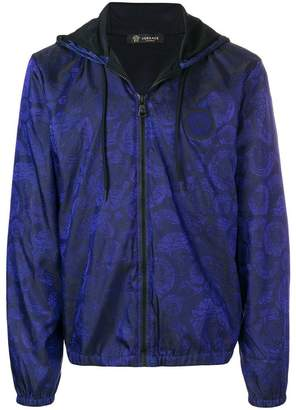 Versace Medusa print hooded jacket