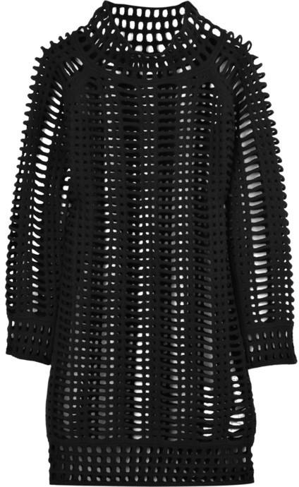 Pringle Wool-mesh mini dress