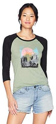 Roxy Junior's Fresh Pine 3/4 Sleeve Baseball Raglan T-Shirt