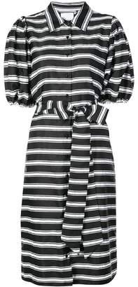 Lisa Marie Fernandez belted striped shirt dress