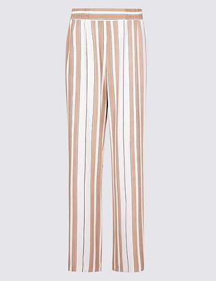 Marks and Spencer Striped Wide Leg Trousers