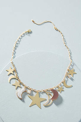 Anthropologie Night Sky Charm Necklace
