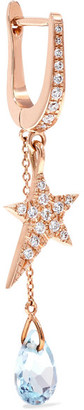 Diane Kordas Star 18-karat Rose Gold, Topaz And Diamond Earring