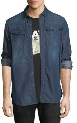 G Star G-Star Kinney Lightweight Distressed Denim Shirt