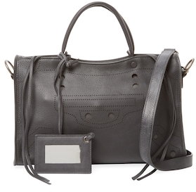 Balenciaga  Blackout City Small Leather Satchel