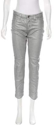 Closed Mid-Rise Coated Jeans