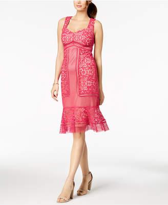 Jax Crochet Lace Ruffle-Hem Dress