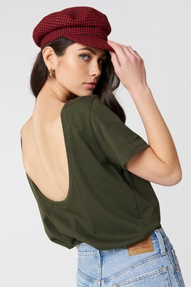 Na Kd Basic Deep Back Tee Army Green