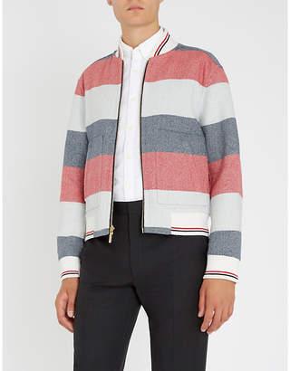 Thom Browne Reversible wool bomber jacket
