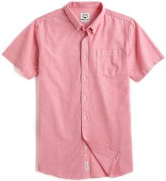 MOCOTONO Men's Short Sleeve Oxford Button Down Casual Shirt Sapphire