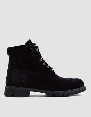 Off-White Off White Timberland Velvet Boot in Black