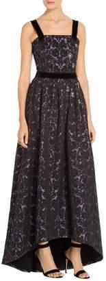 St. John Floral Lame Jacquard Gown