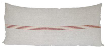 Red Grain Sack Pillow