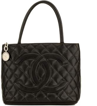 Chanel Black Quilted Caviar Medallion Tote (4130016)
