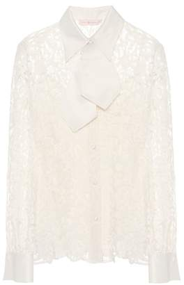 Tory Burch Rosie cotton-blend blouse