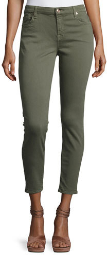 7 For All Mankind7 For All Mankind The Ankle Skinny Coated Jeans, Gray