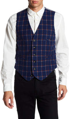Barque Windowpane & Plaid Print European Fit Vest