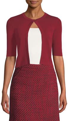 Akris Punto Half-Sleeve Wool Cardigan