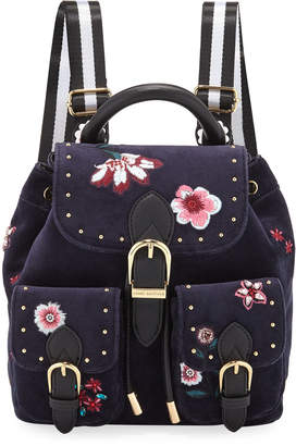 Juicy Couture Mini Embroidered Velour Backpack