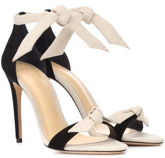 Alexandre Birman Clarita suede and canvas sandals