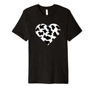 Cow Print Heart Cute Cow Lover Love Premium T-Shirt