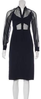 BCBGMAXAZRIA Runway Paulina Silk Mesh Dress w/ Tags