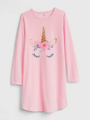 Gap Glitter Unicorn PJ Dress