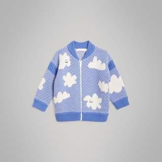 Burberry Cloud Jacquard Merino Wool Cardigan