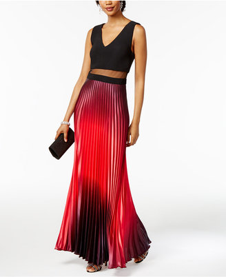 Betsey & Adam Illusion 2-Pc. Ombré Gown $239 thestylecure.com