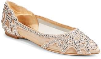 Badgley Mischka Gigi Embellished Flats