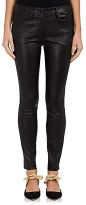 The Row Women's Maddly Leather Slim Jeans