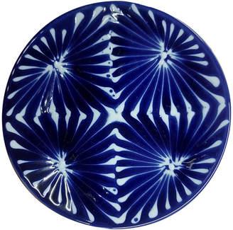 Japanese Porcelain 琉璃 菱格子 小皿