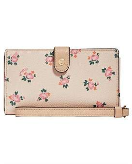 Coach Box Program Floral Bloom Phone Wristlet