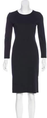 Armani Collezioni Long Sleeve Knee-Length Dress