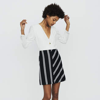 Maje Bimaterial straight dress
