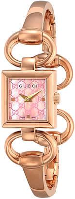 Gucci (グッチ) - GUCCI ウィメンズ ウォッチ フェイス:ピンク ベルト:ゴールド