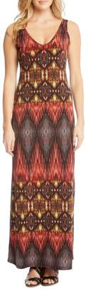 Karen Kane Side Slit Sleeveless Maxi Dress