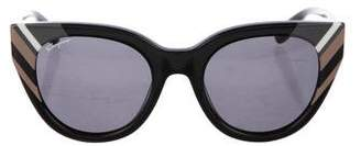 Salvatore Ferragamo Striped Cat-Eye Sunglasses