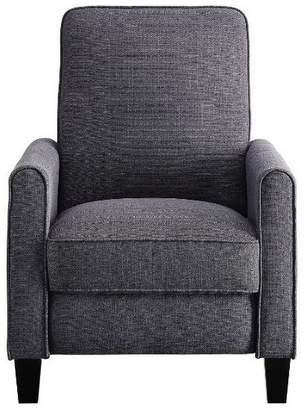 Benzara Push Back Recliner Chair With Fabric Upholstery