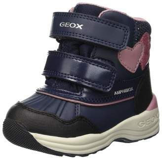 Geox Girl's New Gulp Boot, Brown