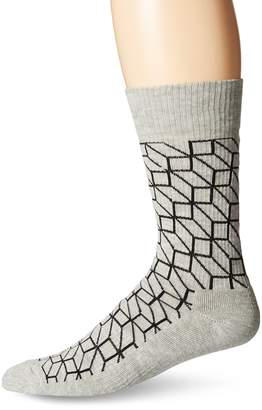 Happy Socks Men's 1Pk Combed Cotton 1/2 Terry Crew Filled Optic