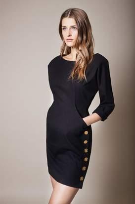 Smythe Pocket Black Dress