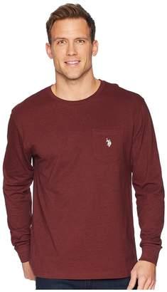 U.S. Polo Assn. Long Sleeve Crew Neck Pocket T-Shirt Men's Clothing
