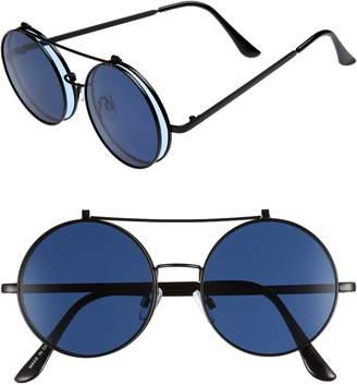 BP 50mm Round Flip-Up Sunglasses