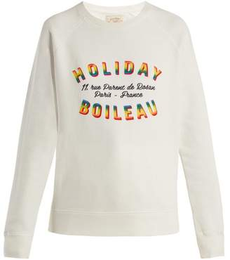 Holiday Boileau - Logo Print Sweatshirt - Womens - Cream